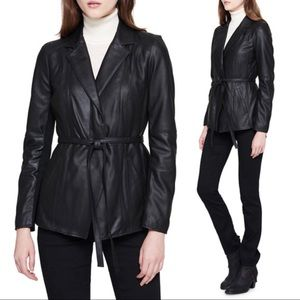 Andrew Marc black belted genuine leather jacket M